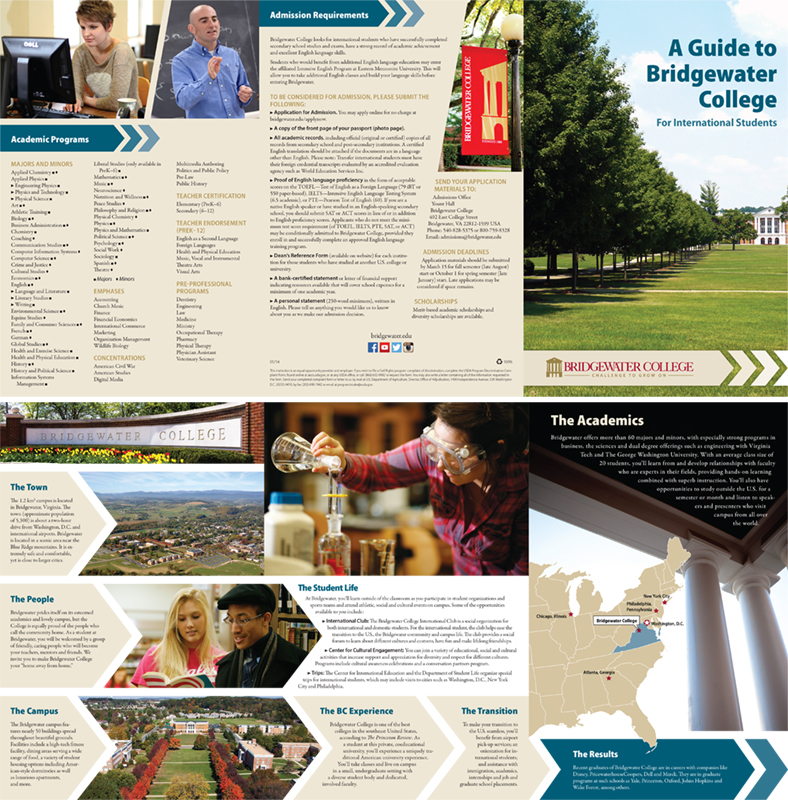 International Recruitment Brochure  May 2014 | Informational brochure sent to prospective international students