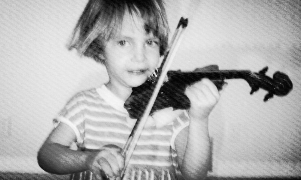 Deborah learning by the Suzuki Method, age 5.