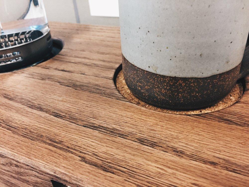 Cork mug coaster