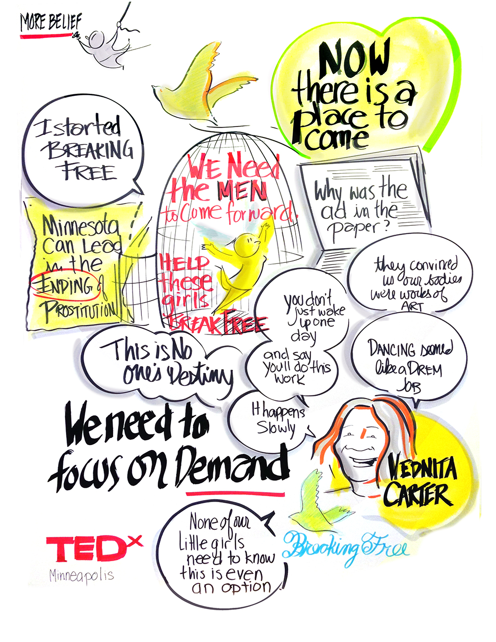 Copy of TED X 2016 Graphic Recording image | MORE BELIEF