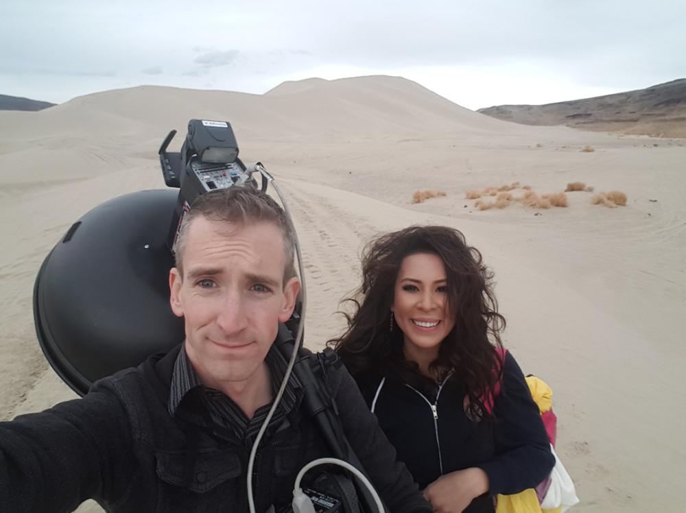 Lan and I at sand mountain,