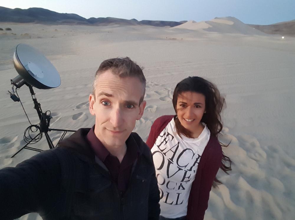 Megan and I at sand mountain avoiding ATV's
