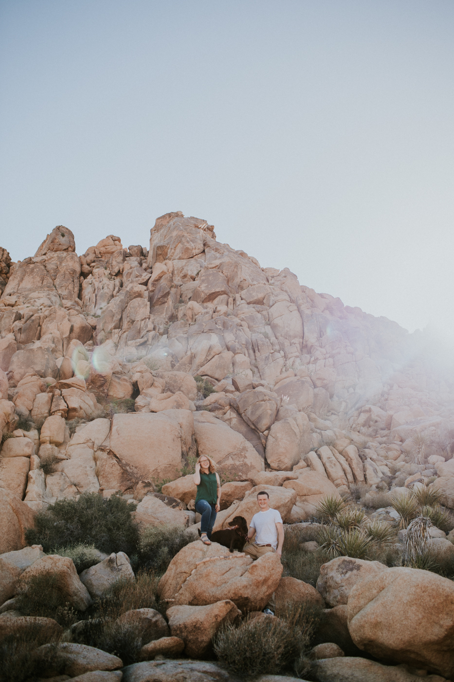 Grace E Jones Photography engagement photos Joshua tree national park California