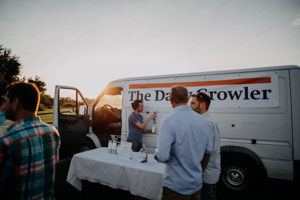 The daily growler beer truck wedding columbus ohio wedding