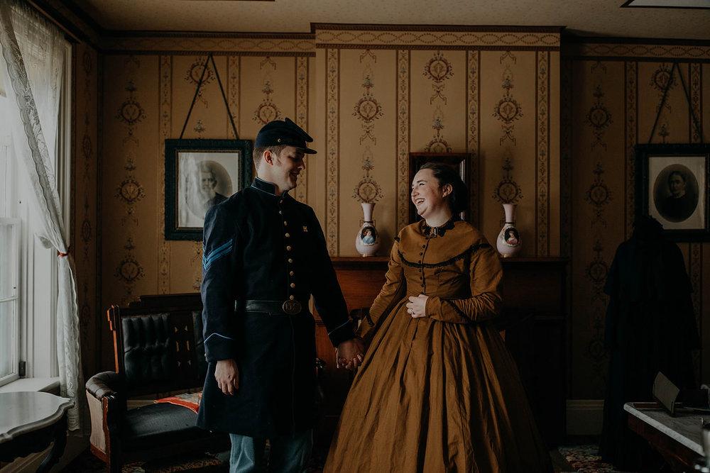 Civil war renactment engagement photos columbus ohio wedding and engagement photographer grace e jones 19.jpg