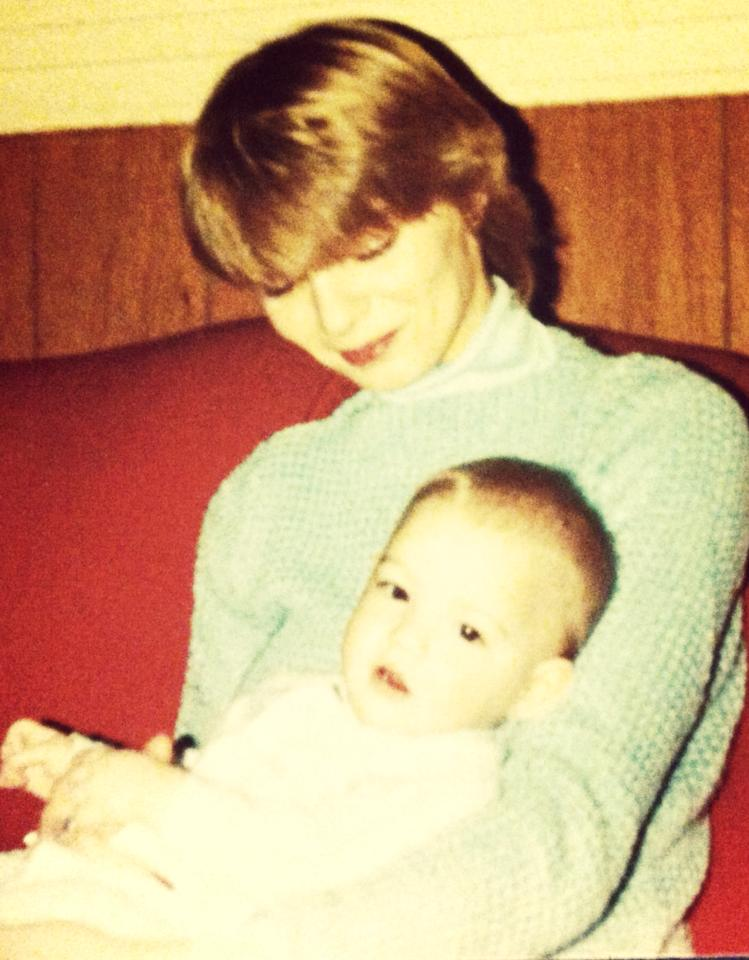 Me and Ma... Just over thirty-one years ago.