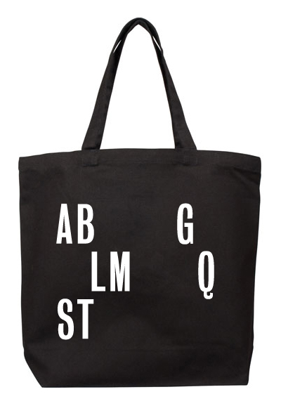 Tote bag design (front) by  Neil Donnelly .