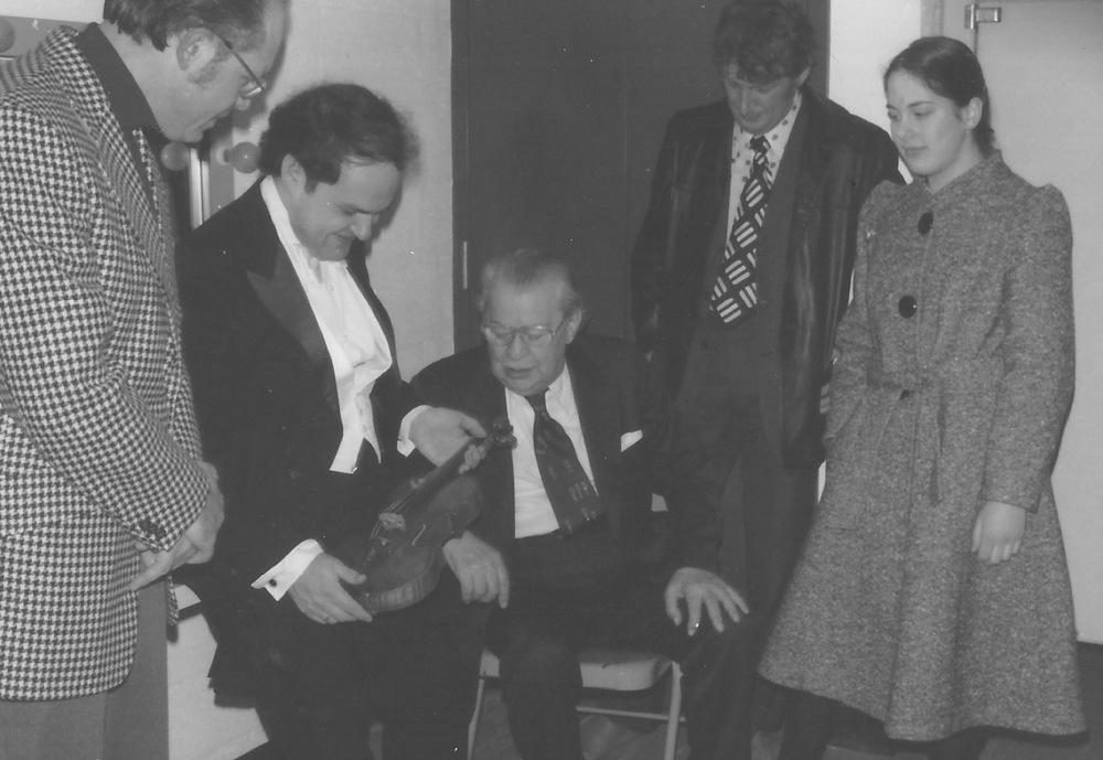 Jaime Laredo, Josef Gingold and Serban Rusu