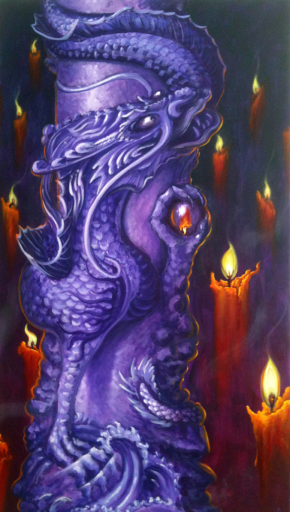 "Temple of the Dragon    28"" x 42""  2010"