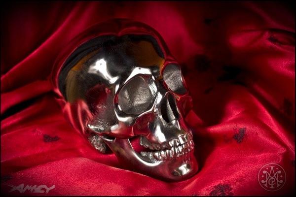 3D printed metal skull
