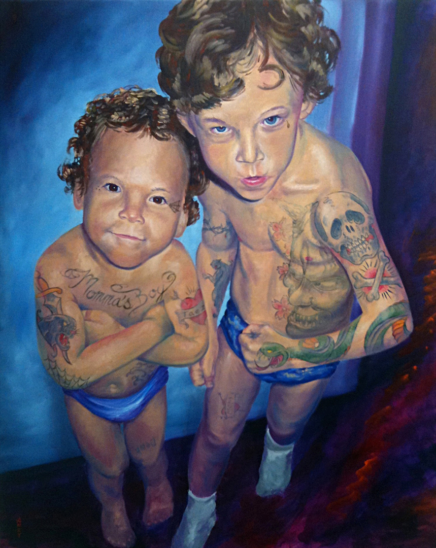"The Denk Boys    22"" x 34""  2011"