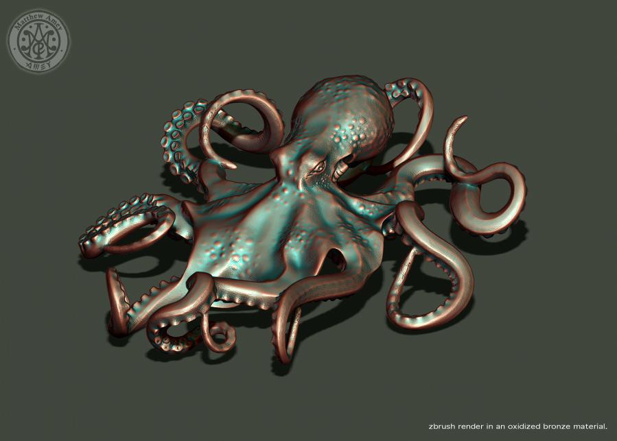 Metal Polishing Near Me >> 3D printed metal octopus pendants in the works... — MatthewAmey.com