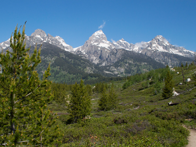 Nez Perce, Middle & Grand Tetons, Mount Owen, & Teewinot