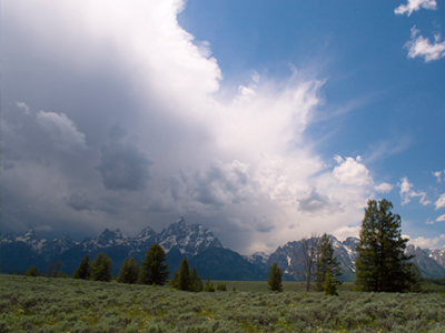 Storm over Tetons