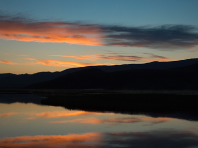 Sunrise at Elk Refuge