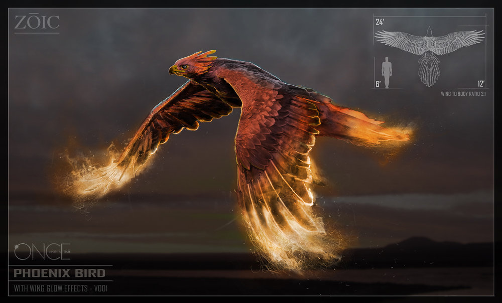 ONCE UPON A TIME - SEASON 6 - UNUSED CONCEPT - Approved concept design of a Phoenix Bird that unfortunatly was cut due to script changes.