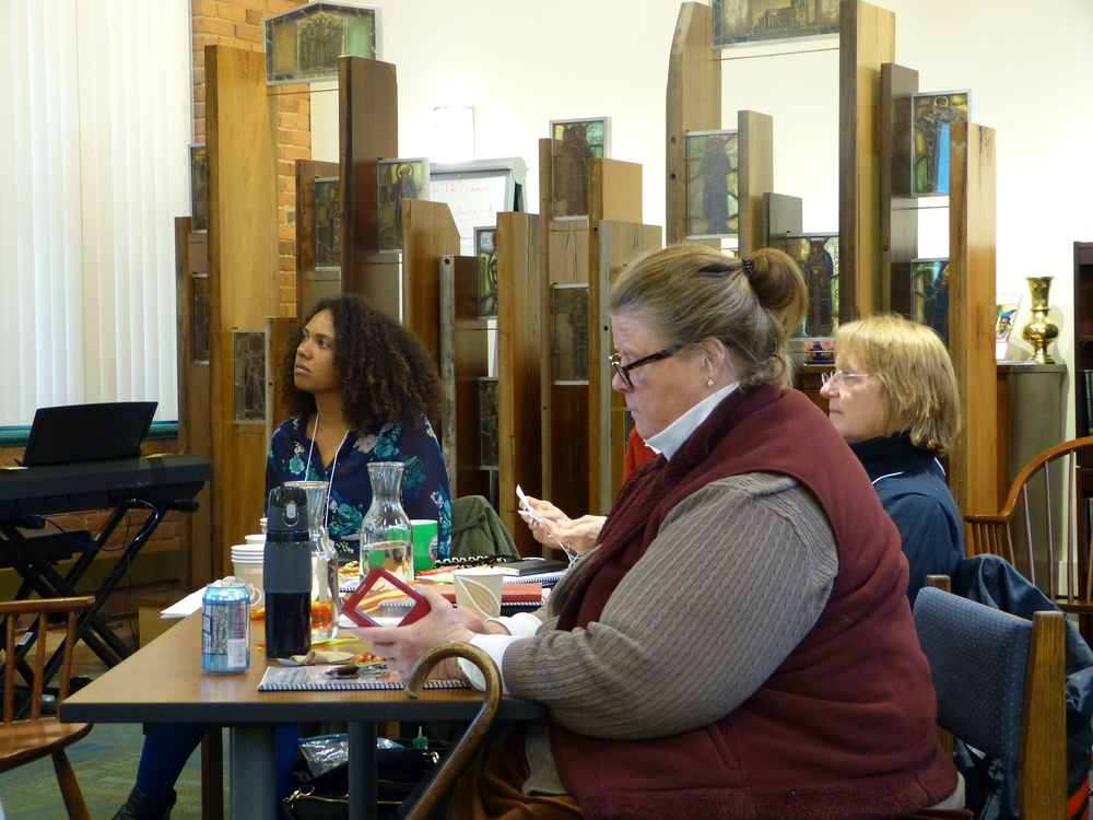 Ruth and the Taskforce for Reimagining the Episcopal Church (TREC) team listen to key learnings