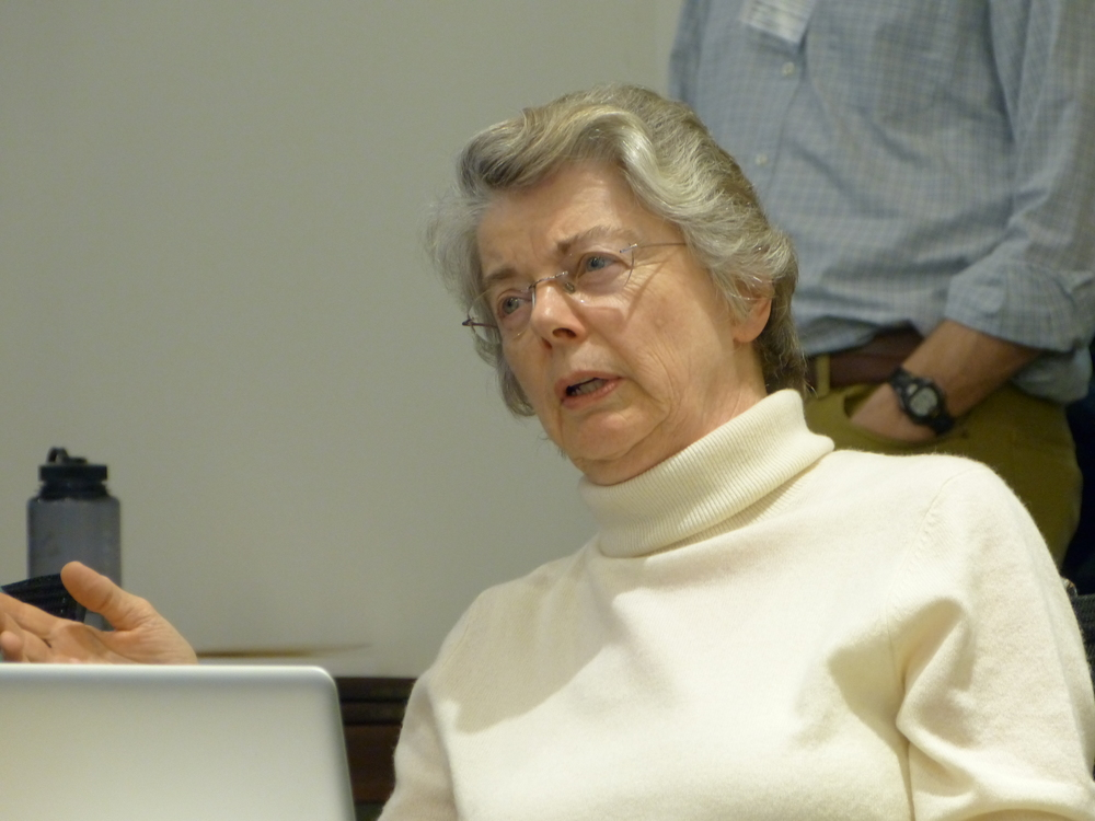 Carol from St. Luke's, Glastonbury participates in the evaluation