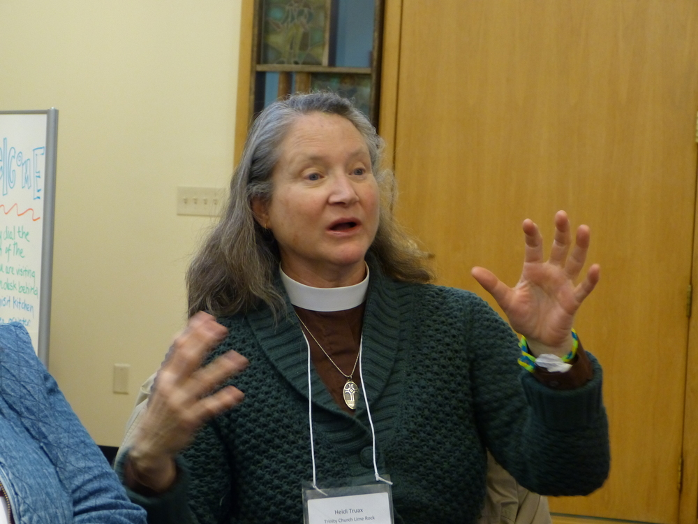 Heidi from Trinity Church, Limerock gives her feedback on the day