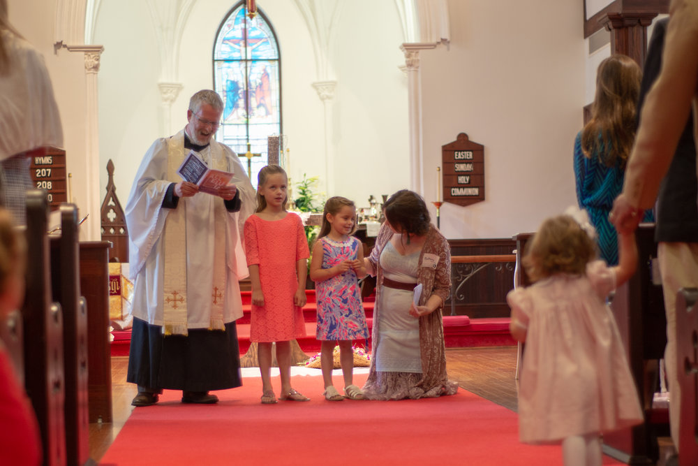 The sermon during the Children's Family Service on Sunday Morning