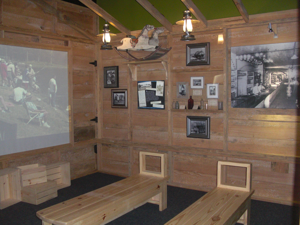 A rustic general store from historic Buffalo City was re-created. It houses an object theater for multimedia programs.