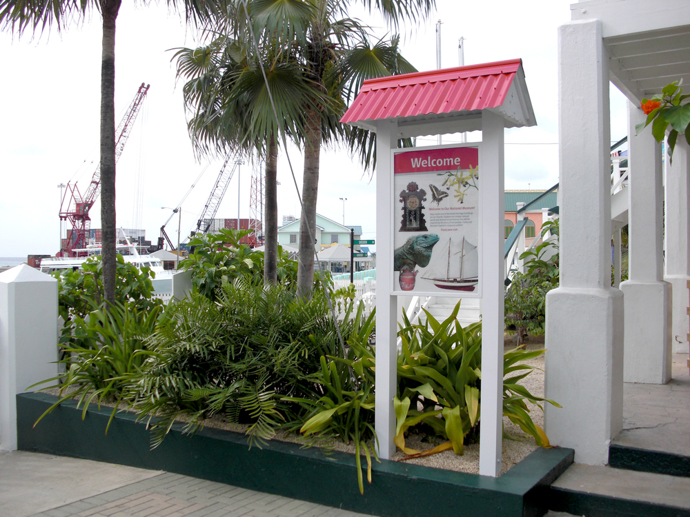 A small outdoor kiosk displays a durable HPL custom interpretive panel.