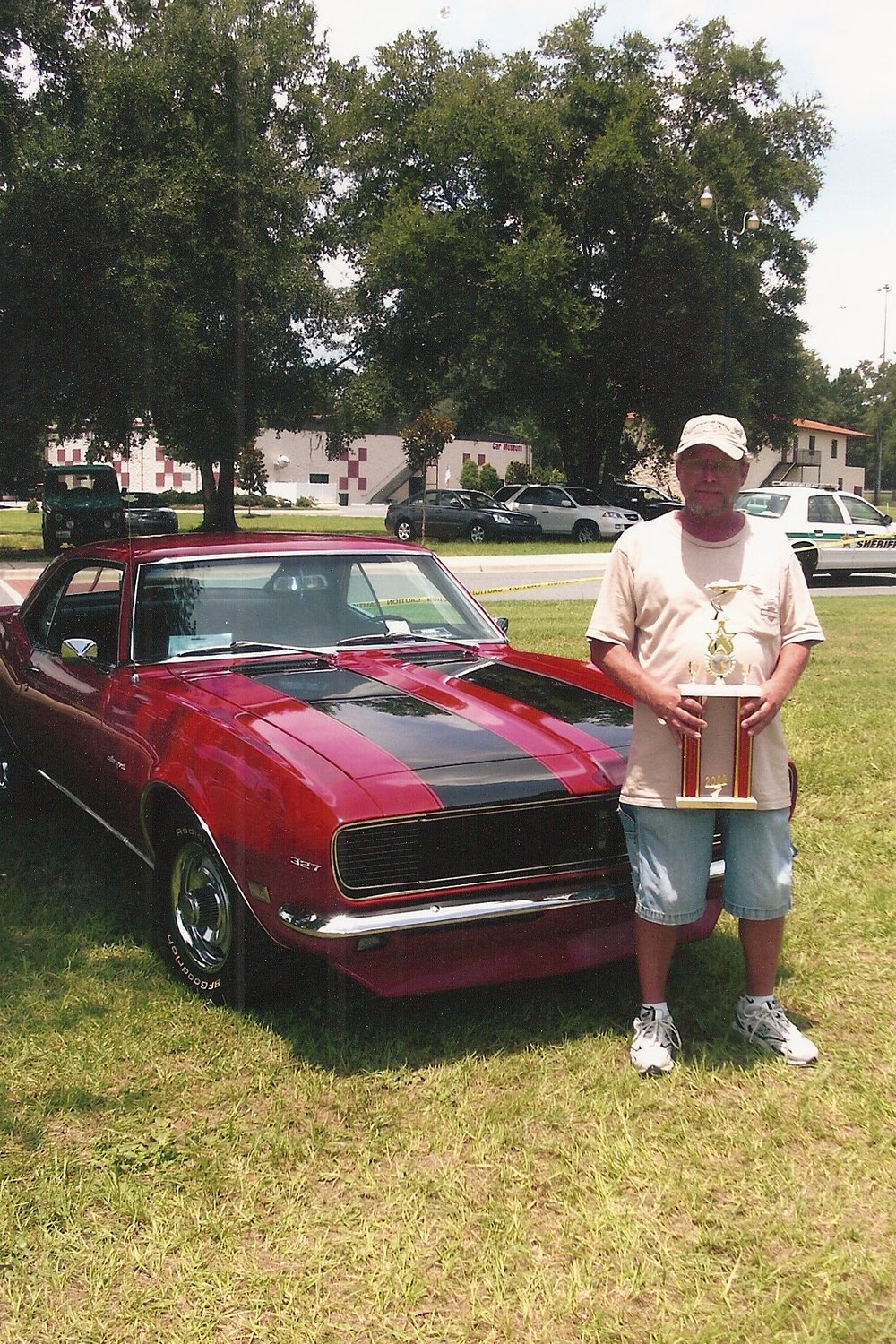 Hanging out with my 1968 Camaro RS! Won Best in Class for Ernie Sim's Big Hits Car Show Benefiting Kids.