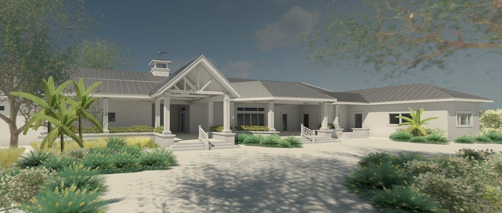 Rendering of the front of new Civic Association building