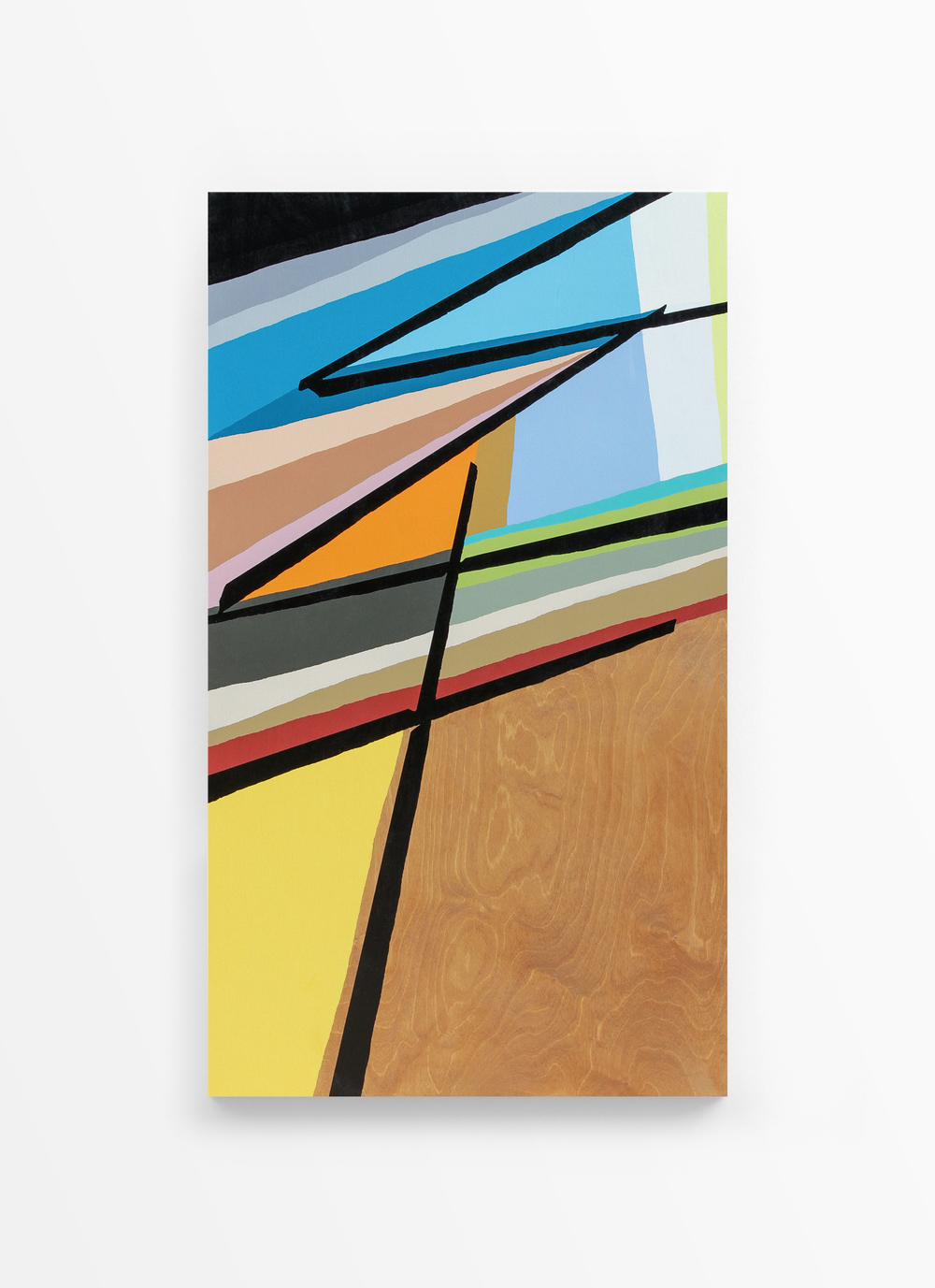 Untitled, 2014 Spray paint on wood 20 x 40 inches