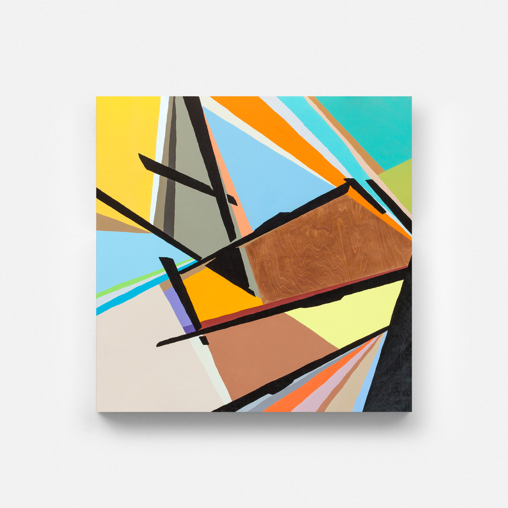 Untitled, 2014 Spray paint on wood 60 x 60 inches