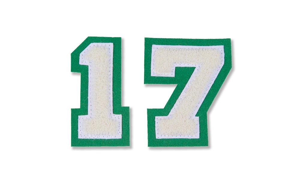 Numbers (style C-15N)