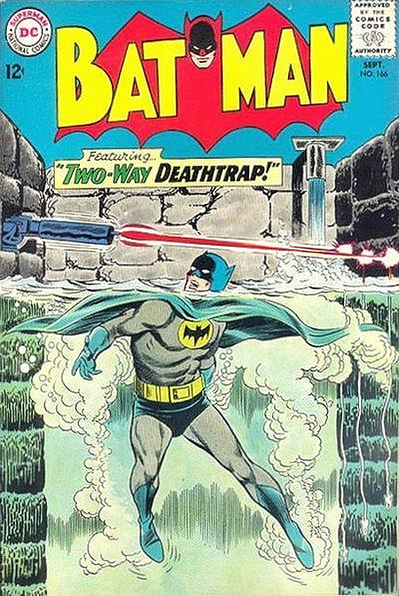 We've all got out of a one-way deathtrap or two, but a  two-way  deathtrap? That takes 60s Batman.