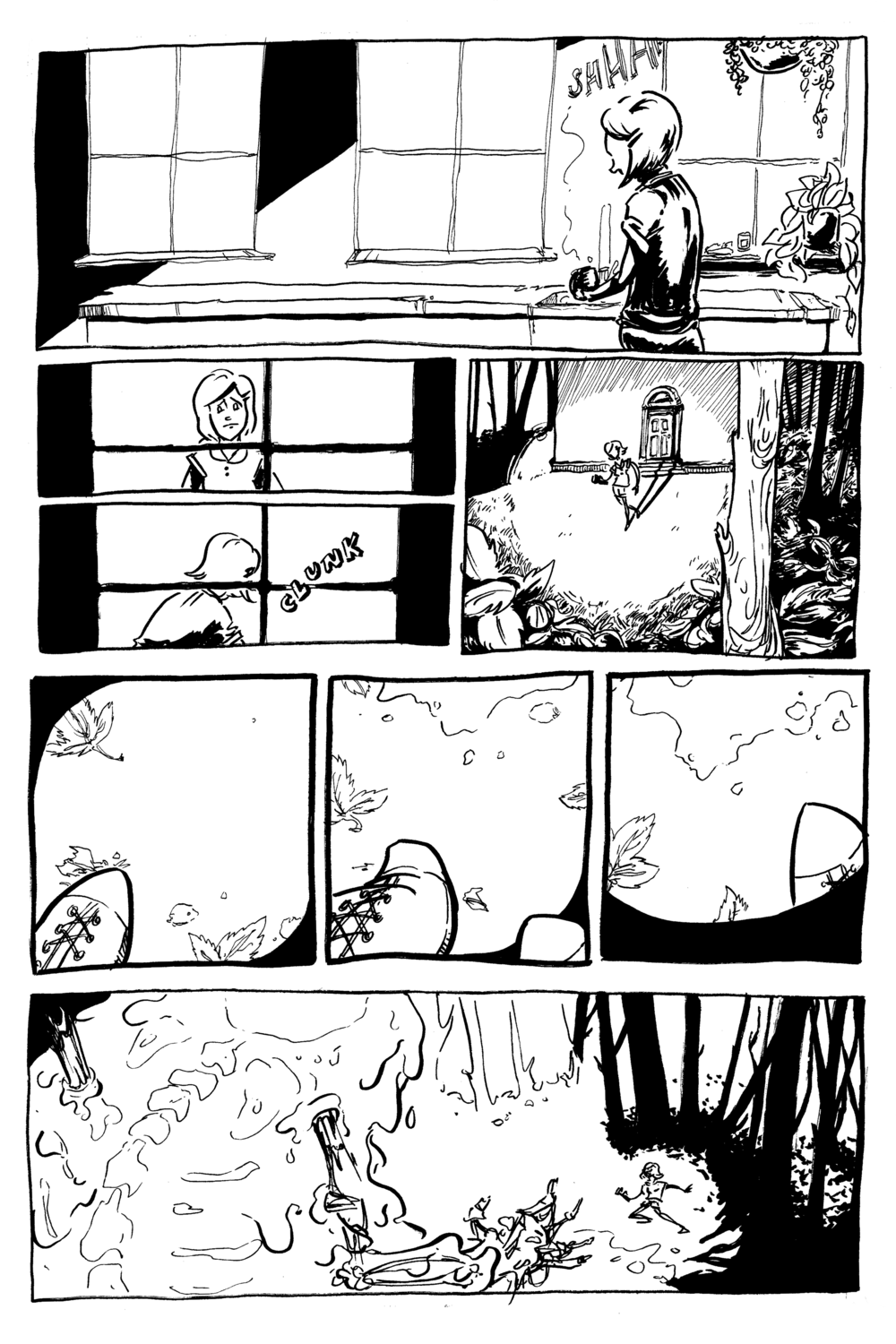 JERRY - A short 4-page comic about a girl who misses her late brother, terribly.