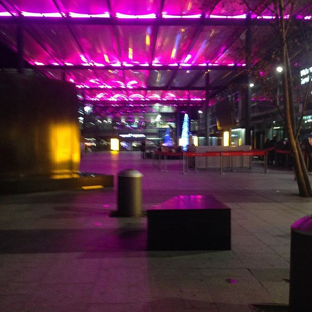 On my way home! I'll get back to everyone when I'm in Vermont, I swear :V . . . #travel #heathrow #london #night #neon