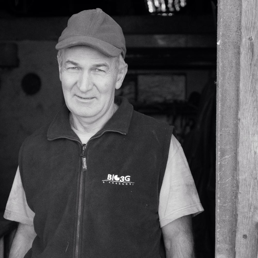 Jean Guenard pig breeder. Lasse.