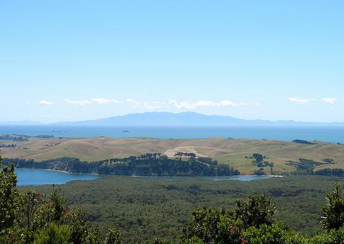 Motutapu as seen from Rangitoto summit