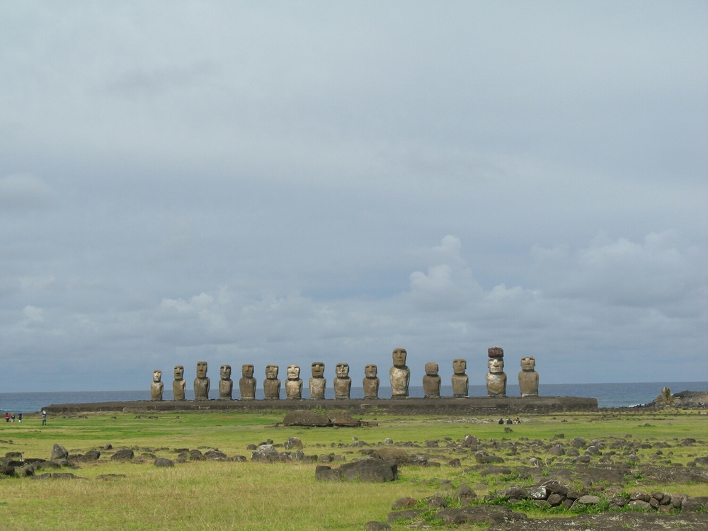 The fifteen Moai at Ahu Tongariki