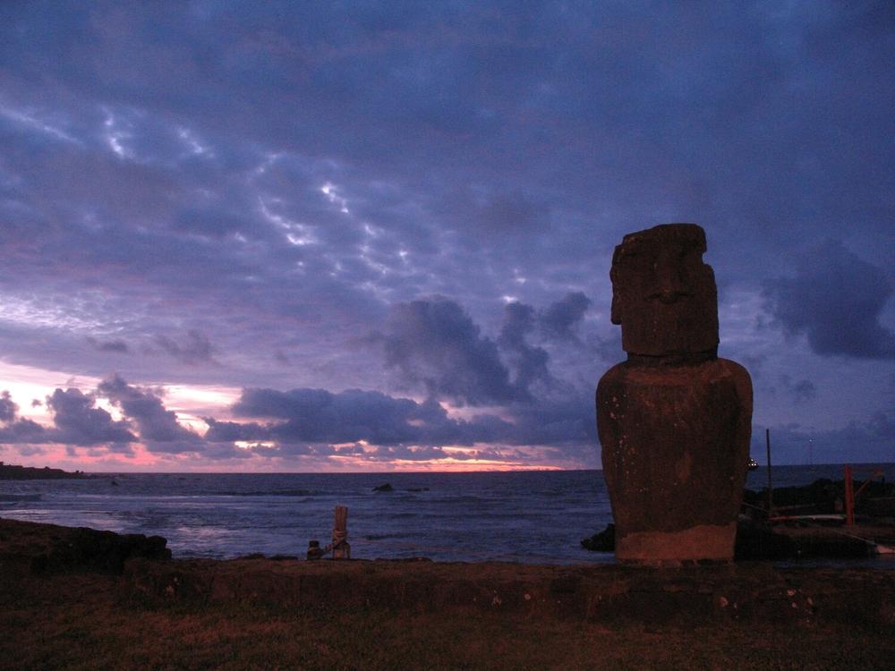 Sunset over Hanga Roa