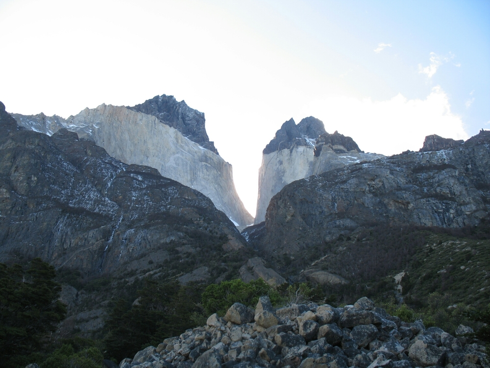 Los Cuernos del Paine, or the horns of blue.