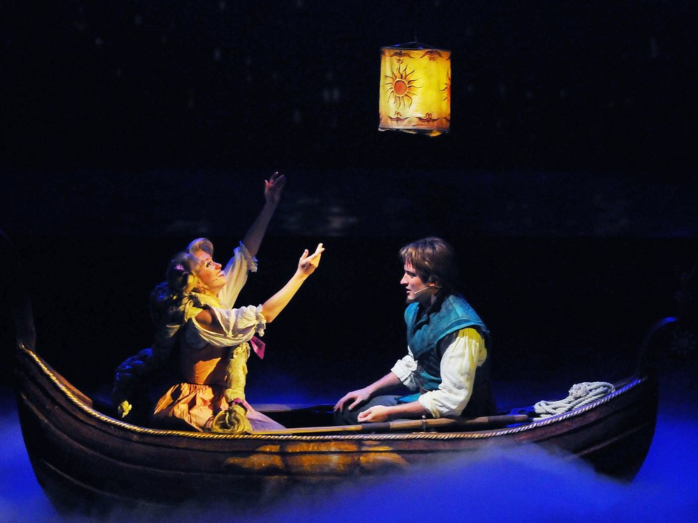 """Florida Today - Watch a """"wide-eyed Rapunzel chase her dream of 'seeing the floating lanterns'""""."""