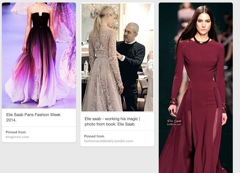 Some shots from my Elegant Elie Saab board on Pinterest.