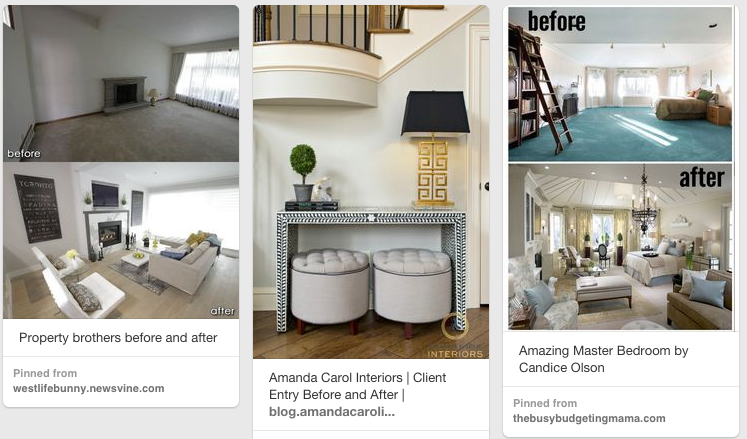 Some of Pinterest's prime before-and-after photos.