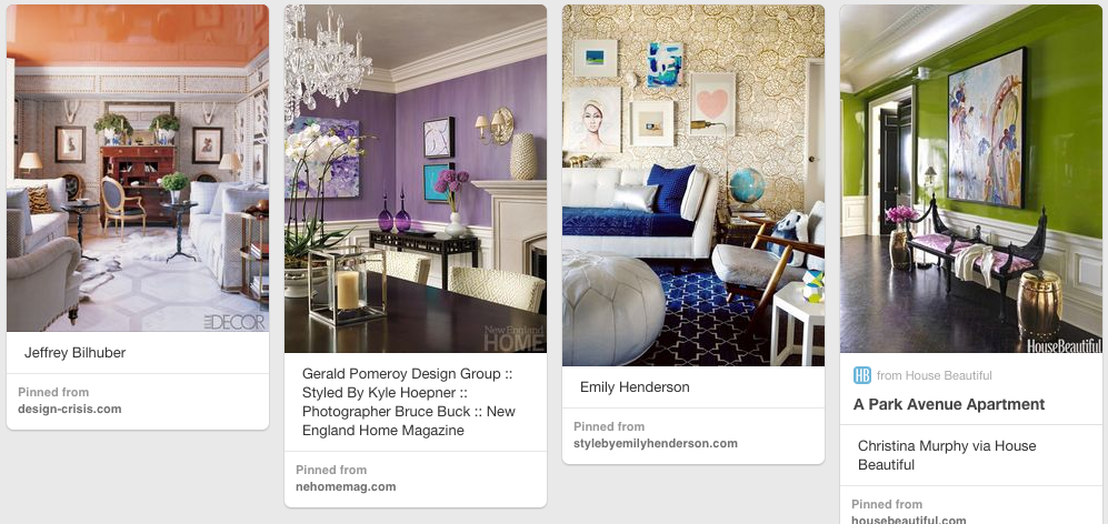 Some of my favorite paint colors on Pinterest