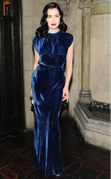 Dita von Teese in vintage Dior, Vogue Magazine