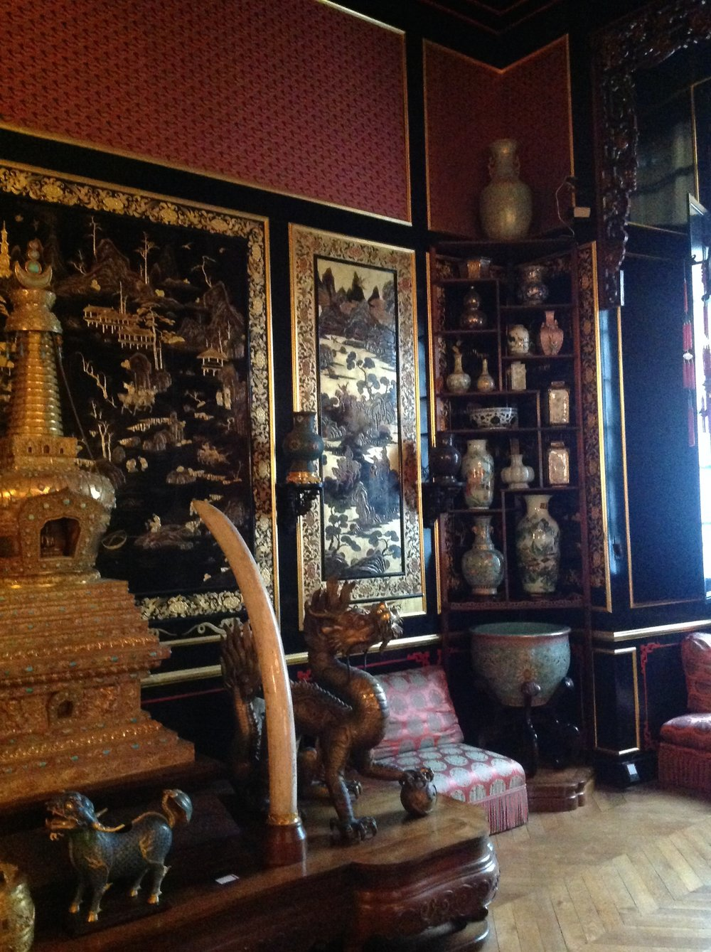 The Chinese Museum at Chateau de Fontainebleau, established by Empress Eugenie in 1867.