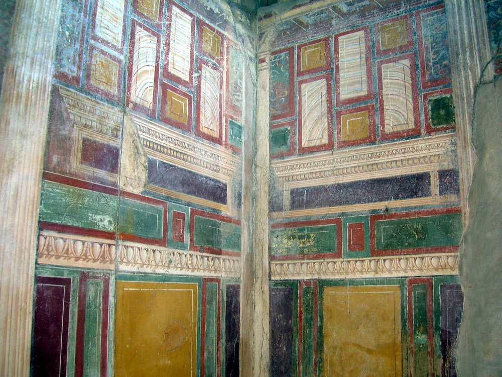 Trompe l'oeil mural, from Pompeii