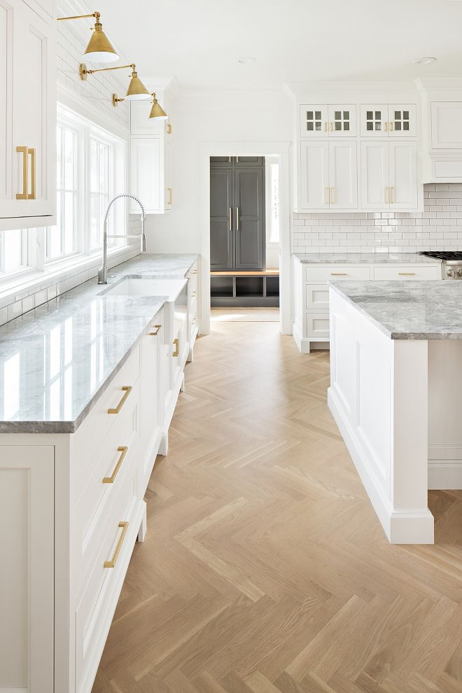Superwhite Quartzite counters  (a natural stone, not a manufactured quartz composite). The Fox Group