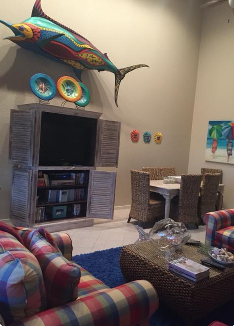 Beachside Condo Living Room - Before