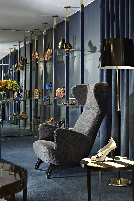Ardea Armchair by Carlo Mollino. Sergio Rossi boutique, London