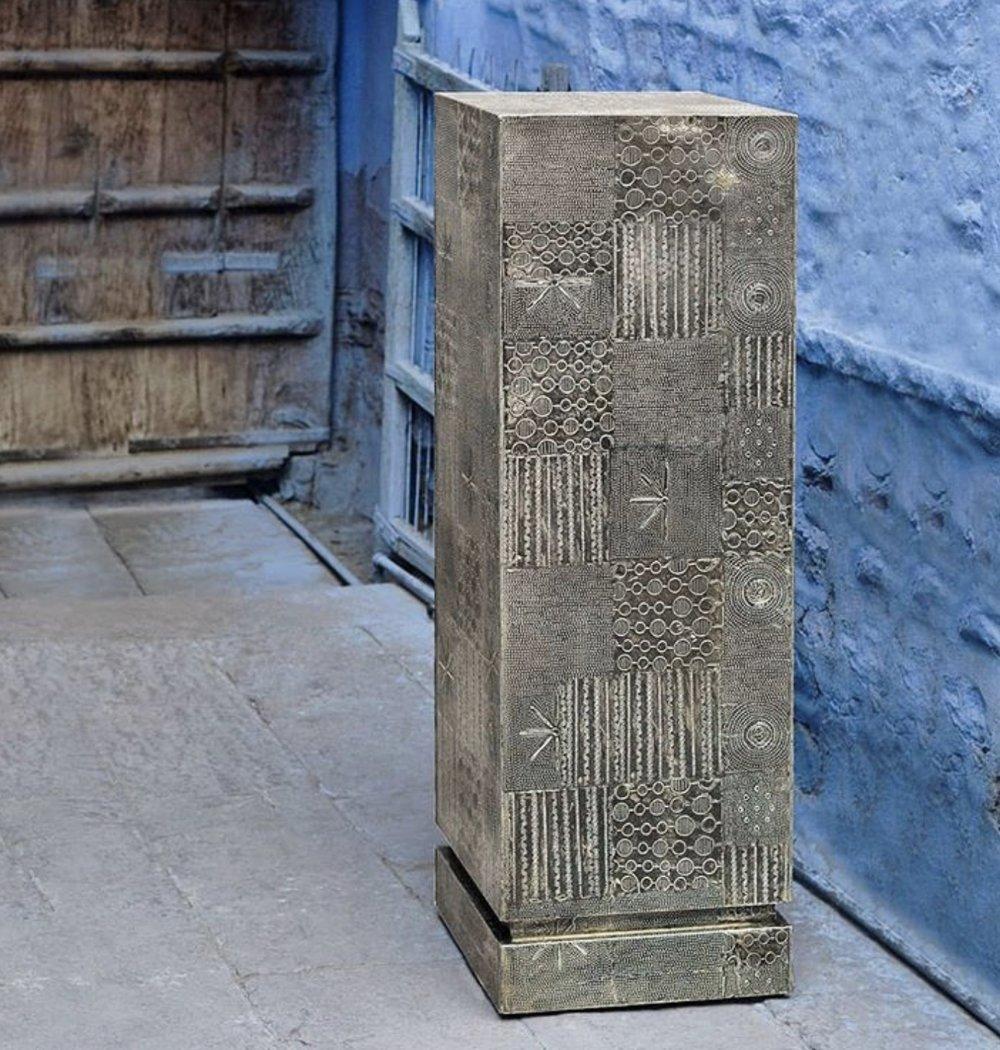 Brutalist Pedestal by Goldleaf Design Group